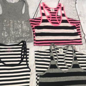 Lot of 4 Victoria's Secret Pink tank tops!